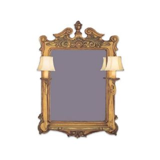 Fine Art Lamps / Mirror with two lamps / Showroom sample