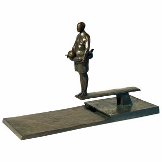 Tom Corbin / Author's sculpture / Man on Diving Board Study S1413