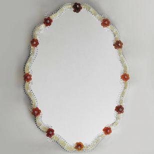 Glass & Glass Murano / Murano wall mirror / ART. MIR 130