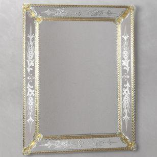 Glass & Glass Murano / Murano wall mirror / ART. MIR 100