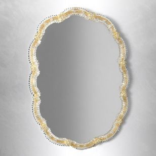 Glass & Glass Murano / Murano wall mirror / ART. MIR 110