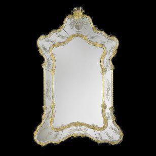 Glass & Glass Murano / Murano wall mirror / ART. MIR 120