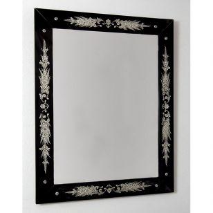 Glass & Glass Murano / Murano wall mirror / ART. MIR 140
