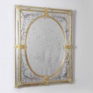 Glass & Glass Murano / Murano wall mirror / ART. MIR 150