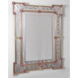 Glass & Glass Murano / Murano wall mirror / ART. MIR 160