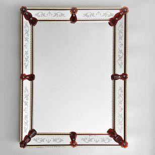 Glass & Glass Murano / Murano wall mirror / ART. MIR 170