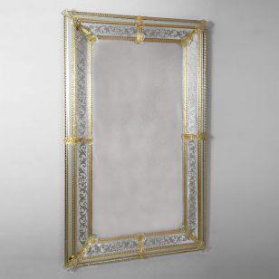 Glass & Glass Murano / Murano wall mirror / ART. MIR 200