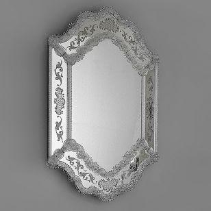 Glass & Glass Murano / Murano wall mirror / ART. MIR 210