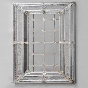 Glass & Glass Murano / Murano wall mirror / ART. MIR 220
