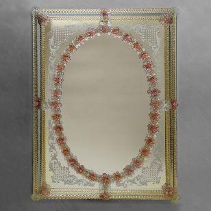 Glass & Glass Murano / Murano wall mirror / ART. MIR 230