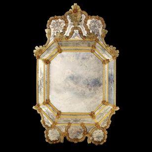 Glass & Glass Murano / Murano wall mirror / ART. MIR 260