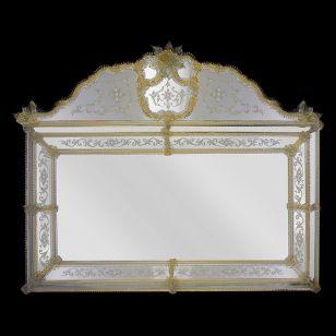 Glass & Glass Murano / Murano wall mirror / ART. MIR 270