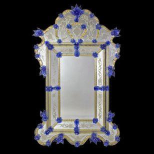 Glass & Glass Murano / Murano wall mirror / ART. MIR 280