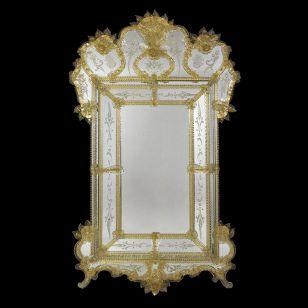 Glass & Glass Murano / Murano wall mirror / ART. MIR 290