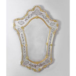 Glass & Glass Murano / Murano wall mirror / ART. MIR 300