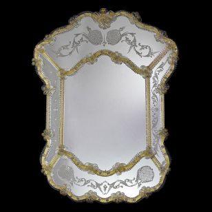 Glass & Glass Murano / Murano wall mirror / ART. MIR 310