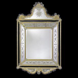 Glass & Glass Murano / Murano wall mirror / ART. MIR 320