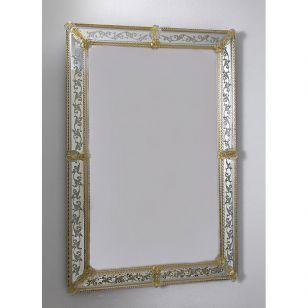 Glass & Glass Murano / Murano wall mirror / ART. MIR 330