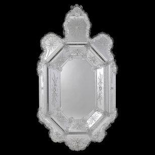 Glass & Glass Murano / Murano wall mirror / ART. MIR 340