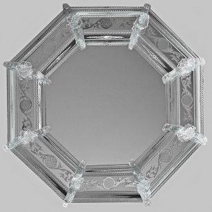 Glass & Glass Murano / Murano wall mirror / ART. MIR 350