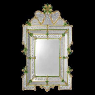 Glass & Glass Murano / Murano wall mirror / ART. MIR 360