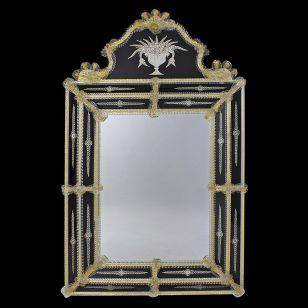 Glass & Glass Murano / Murano wall mirror / ART. MIR 370