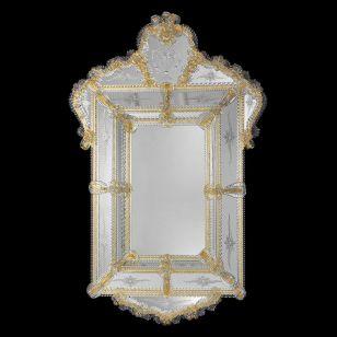 Glass & Glass Murano / Murano wall mirror / ART. MIR 380