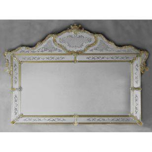 Glass & Glass Murano / Murano wall mirror / ART. MIR 390