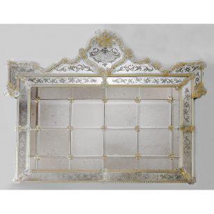 Glass & Glass Murano / Murano wall mirror / ART. MIR 400