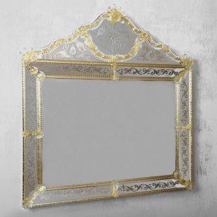 Glass & Glass Murano / Murano wall mirror / ART. MIR 410