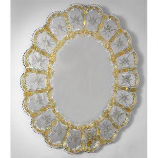 Glass & Glass Murano / Murano wall mirror / ART. MIR 420