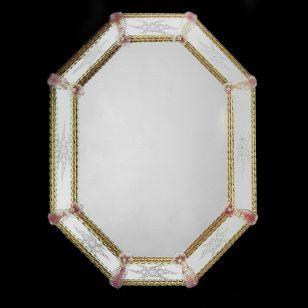 Glass & Glass Murano / Murano wall mirror / ART. MIR 430