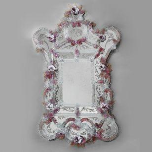 Glass & Glass Murano / Murano wall mirror / ART. MIR 440