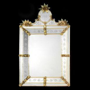 Glass & Glass Murano / Murano wall mirror / ART. MIR 450