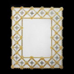 Glass & Glass Murano / Murano wall mirror / ART. MIR 460