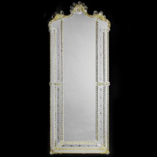 Glass & Glass Murano / Murano wall mirror / ART. MIR 470