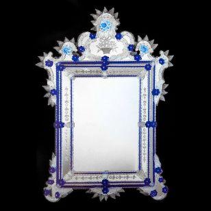Glass & Glass Murano / Murano wall mirror / ART. MIR 480