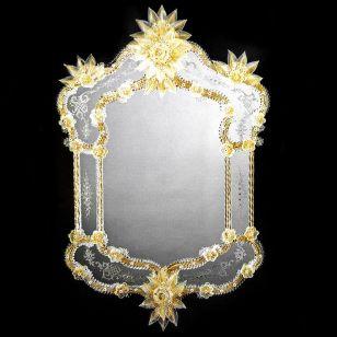 Glass & Glass Murano / Murano wall mirror / ART. MIR 490