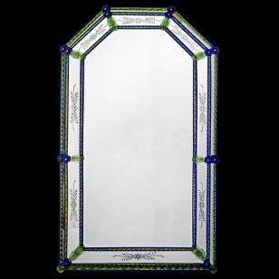 Glass & Glass Murano / Murano wall mirror / ART. MIR 500