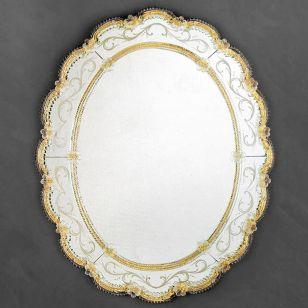 Glass & Glass Murano / Murano wall mirror / ART. MIR 510