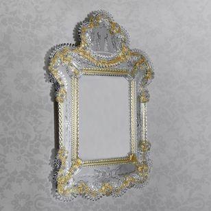 Glass & Glass Murano / Murano wall mirror / ART. MIR 530