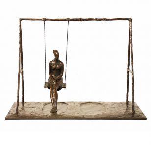 Tom Corbin / Author's sculpture / Girl on Swing S2335