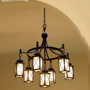 Robers / Outdoor 7-lighter Suspension Lamp with chain / HL 2588