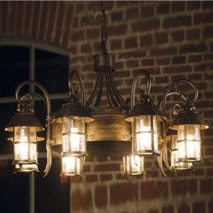Robers / Outdoor 8-lighter Suspension Lamp with chain / HL 2591