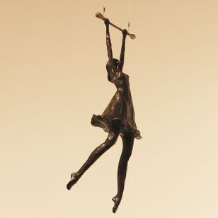 Tom Corbin / Author's sculpture / Girl on Trapeze S2355