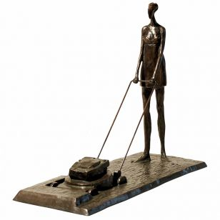 Tom Corbin / Author's sculpture / Girl with Lawnmower S1412