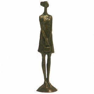 Tom Corbin / Author's sculpture / Girl with Purse II SM011