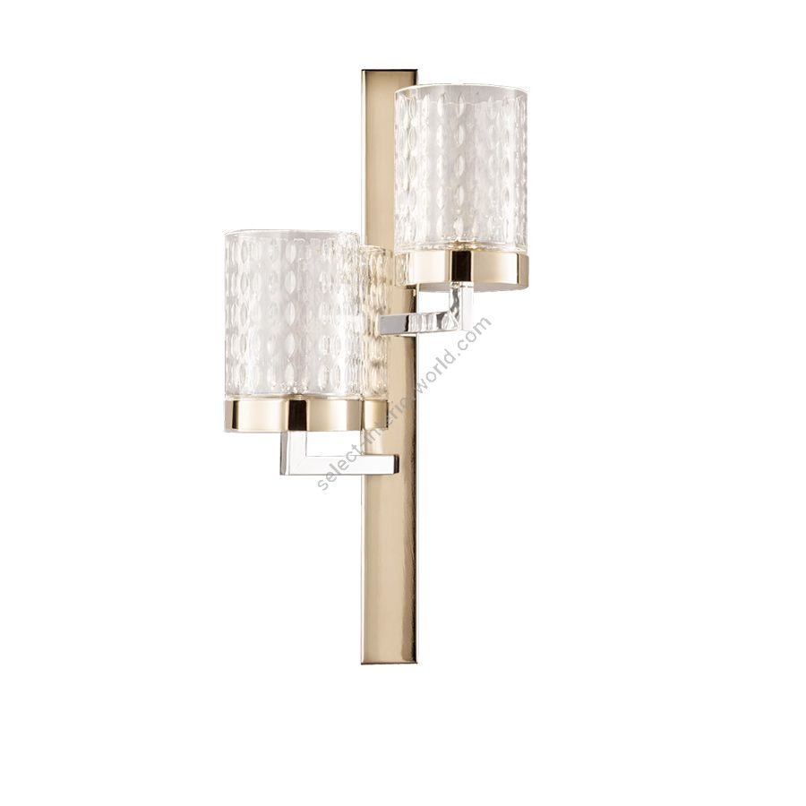 Wall led lamp / Light Gold - Chrome finish / Transparent glass