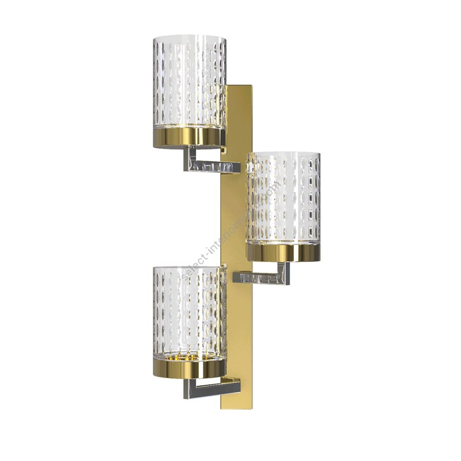 Wall led lamp / Light Gold - Chrome finish / Transparent glass