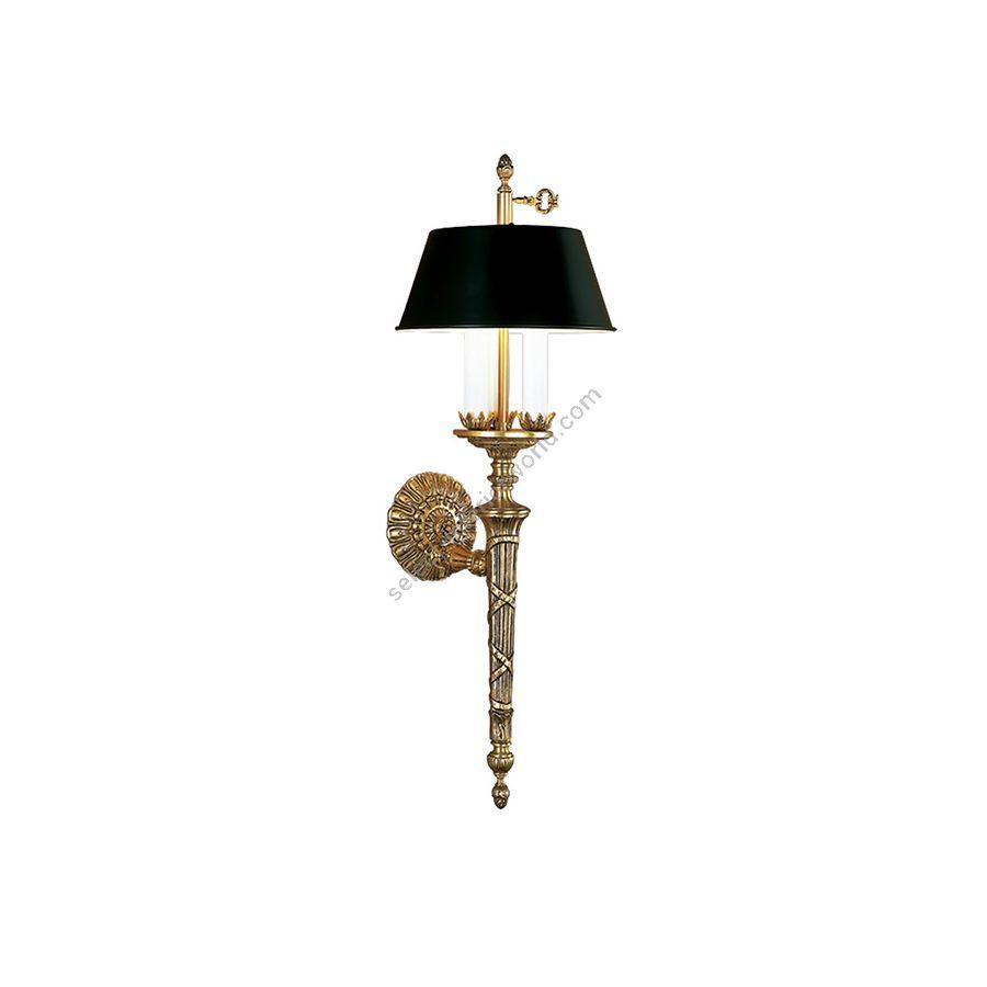 Wall bracket / French gold finish / Black lampshade